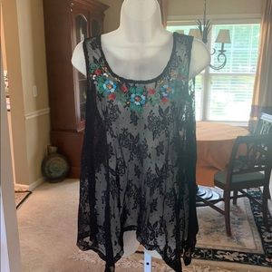 Tops - Lace black top🎀